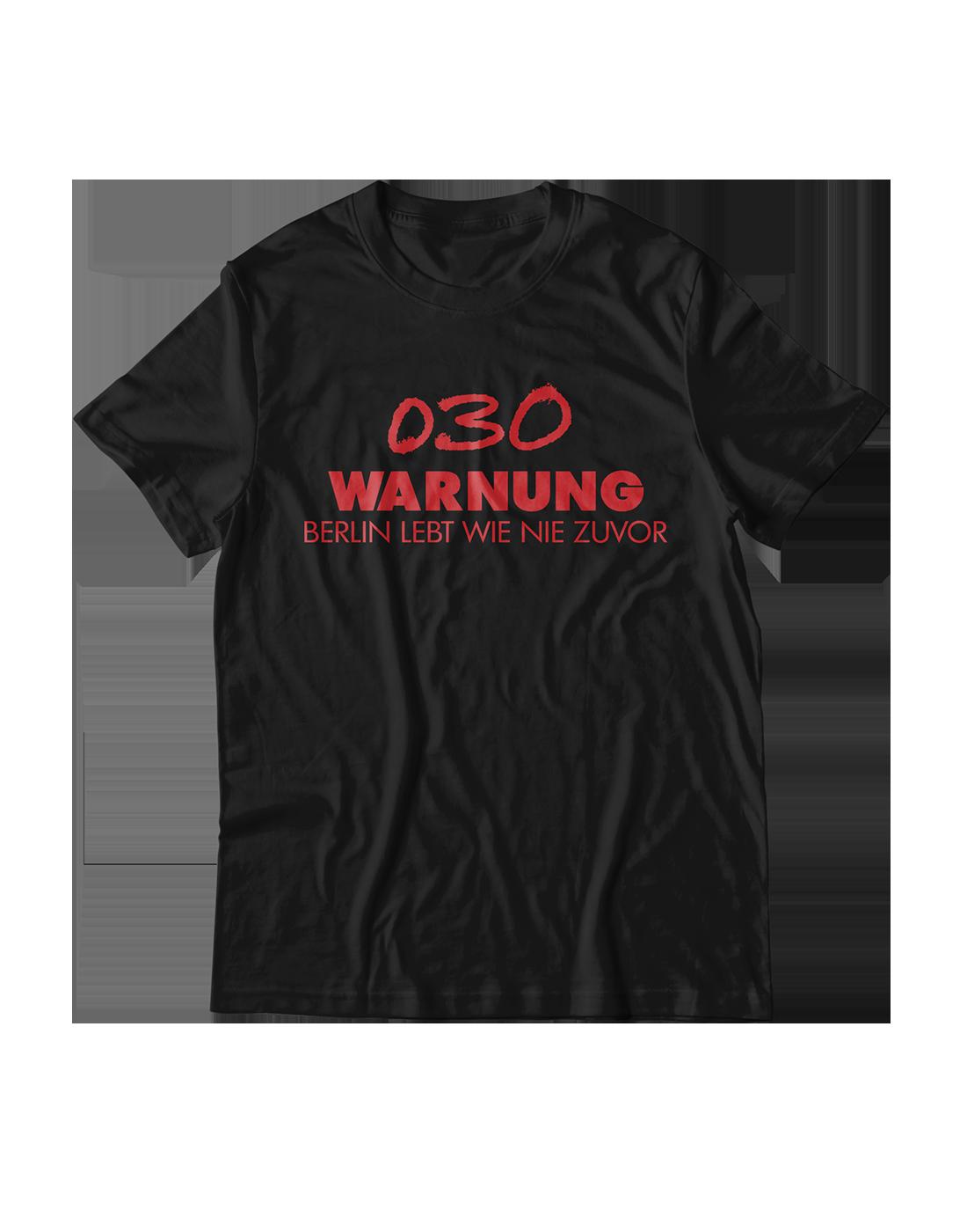 Capital Bra Shirt 030 Warnung Black